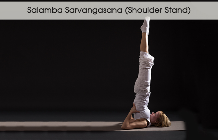 4. Саламба Сарвангасана (стойка на плечах)