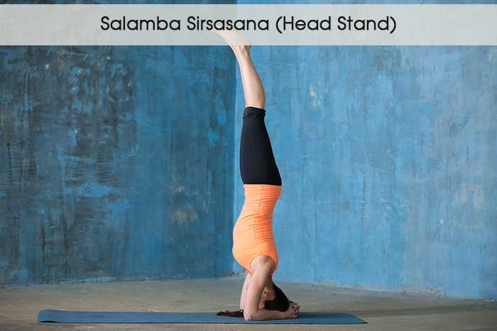 5. Саламба Sirsasana (Глава Стенд)