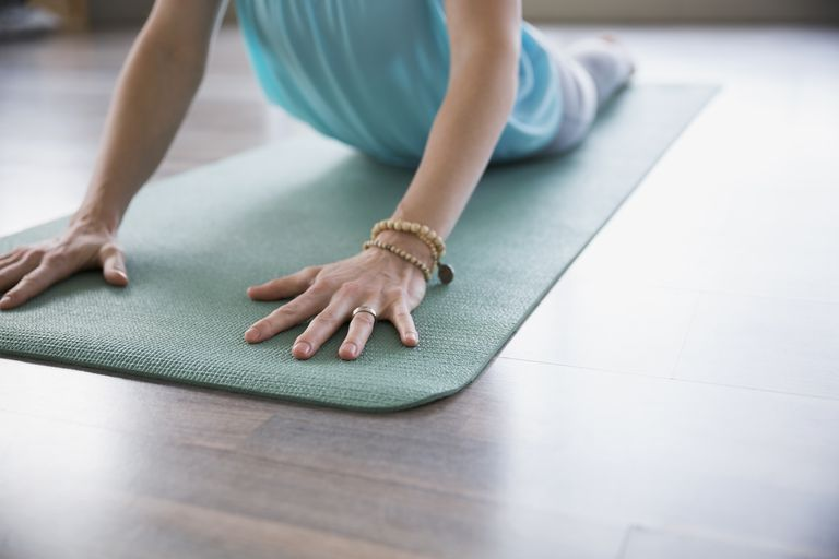 Como corrigir um tapete de yoga Slippery